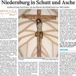 Niedernburg in Schutt und Asche