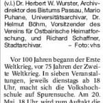 Die Weltkriege in Passauer Dokumenten