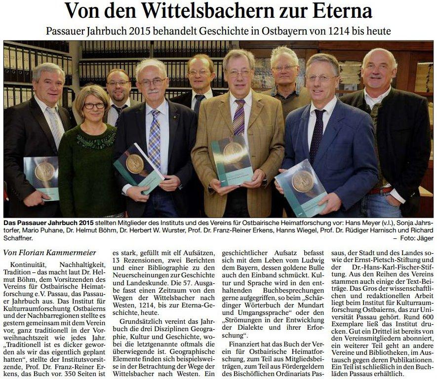 Quelle: Passauer Neue Presse vom 15.12.2015, S. 20