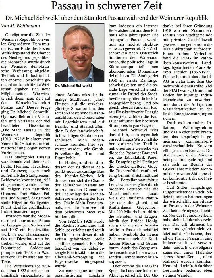 Passau in schwerer Zeit
