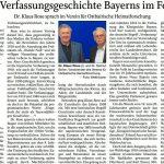 Die Verfassungsgeschichte Bayerns im Fokus
